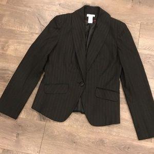 Worthington Blazer Size 4 Black Striped
